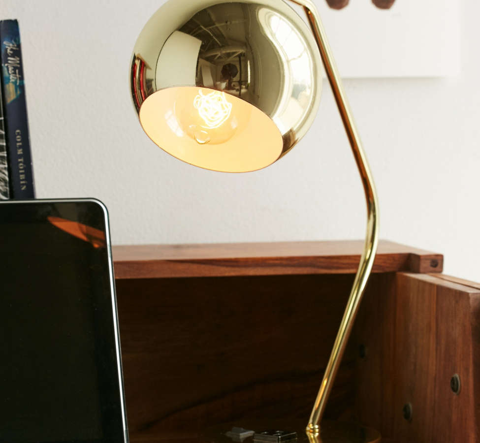 Slide View: 1: Gumball Desk Lamp - Gold