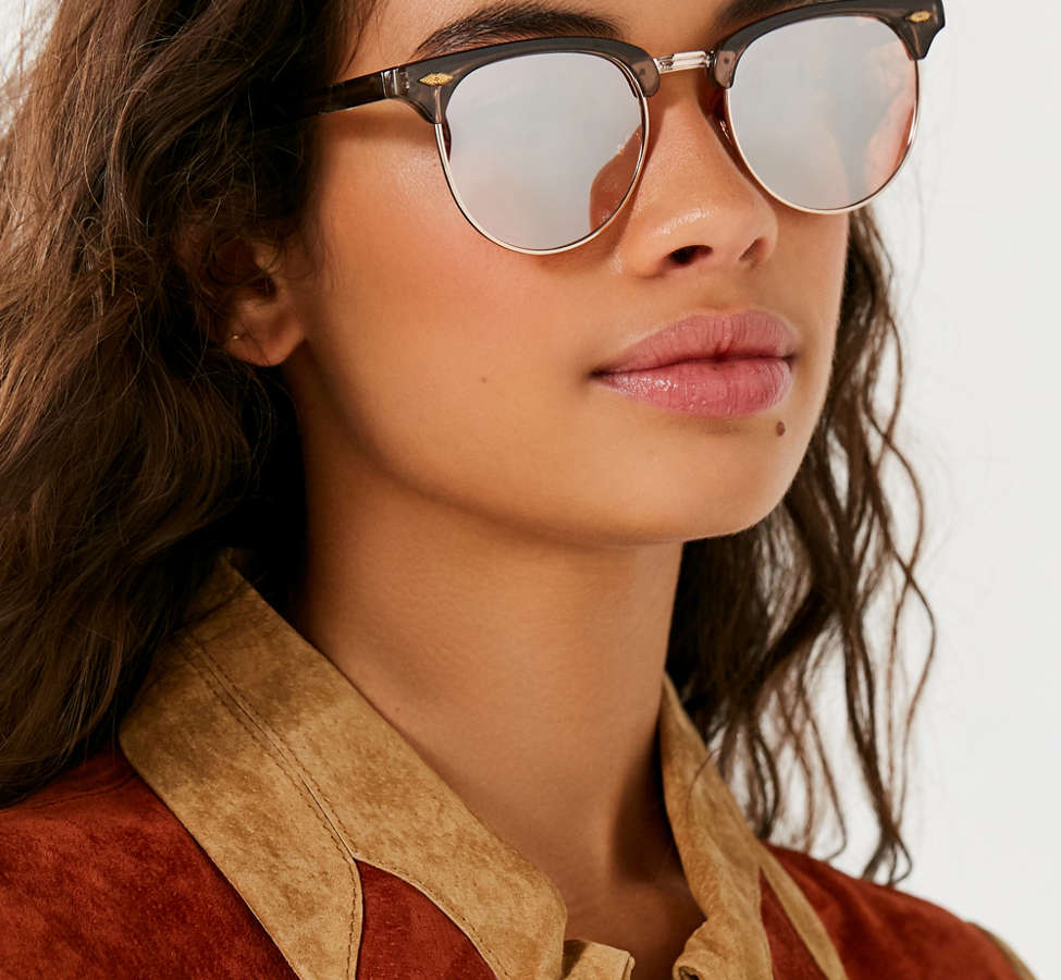 Slide View: 1: Skylar Half-Frame Sunglasses