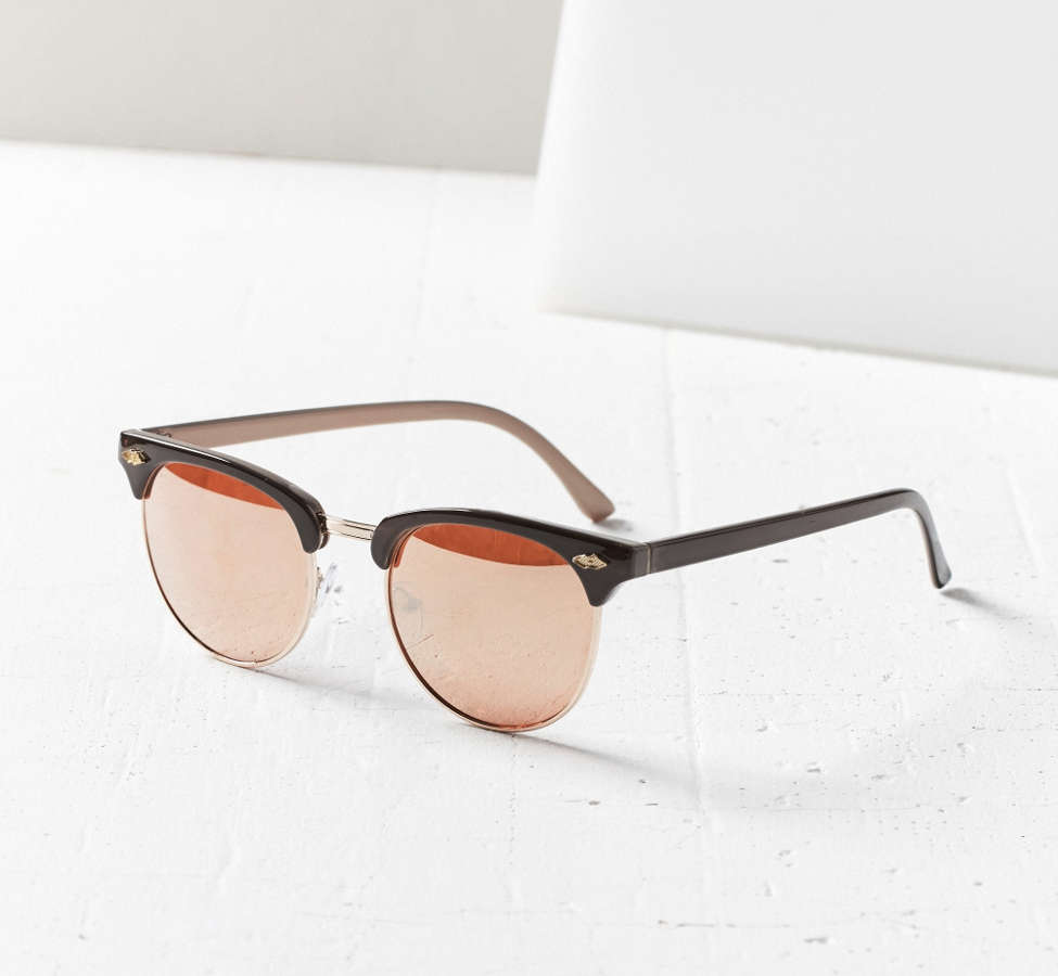 Slide View: 2: Skylar Half-Frame Sunglasses