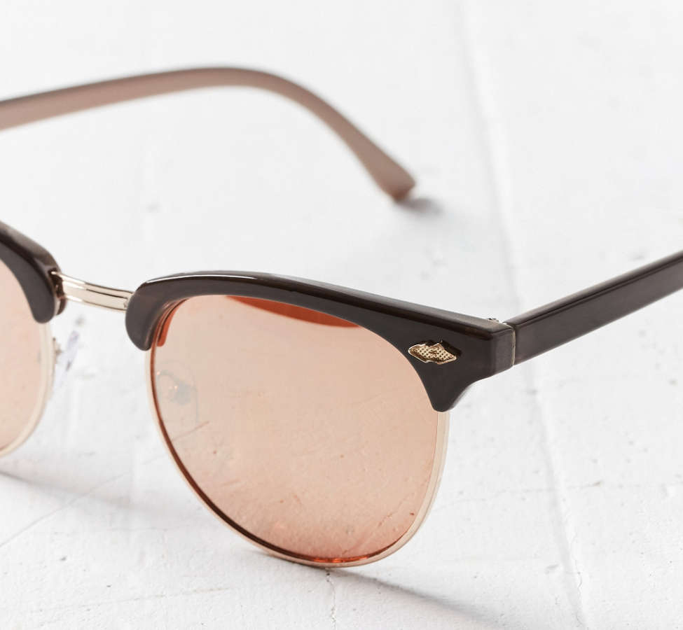 Slide View: 3: Skylar Half-Frame Sunglasses