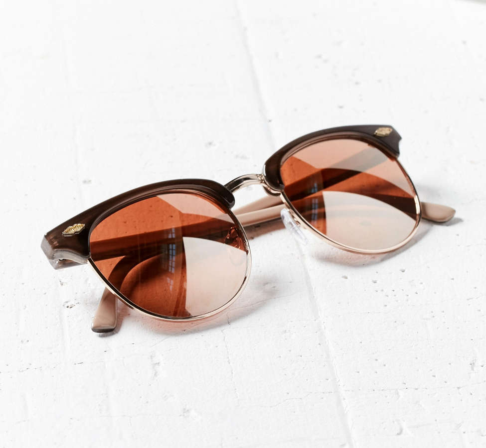 Slide View: 5: Skylar Half-Frame Sunglasses