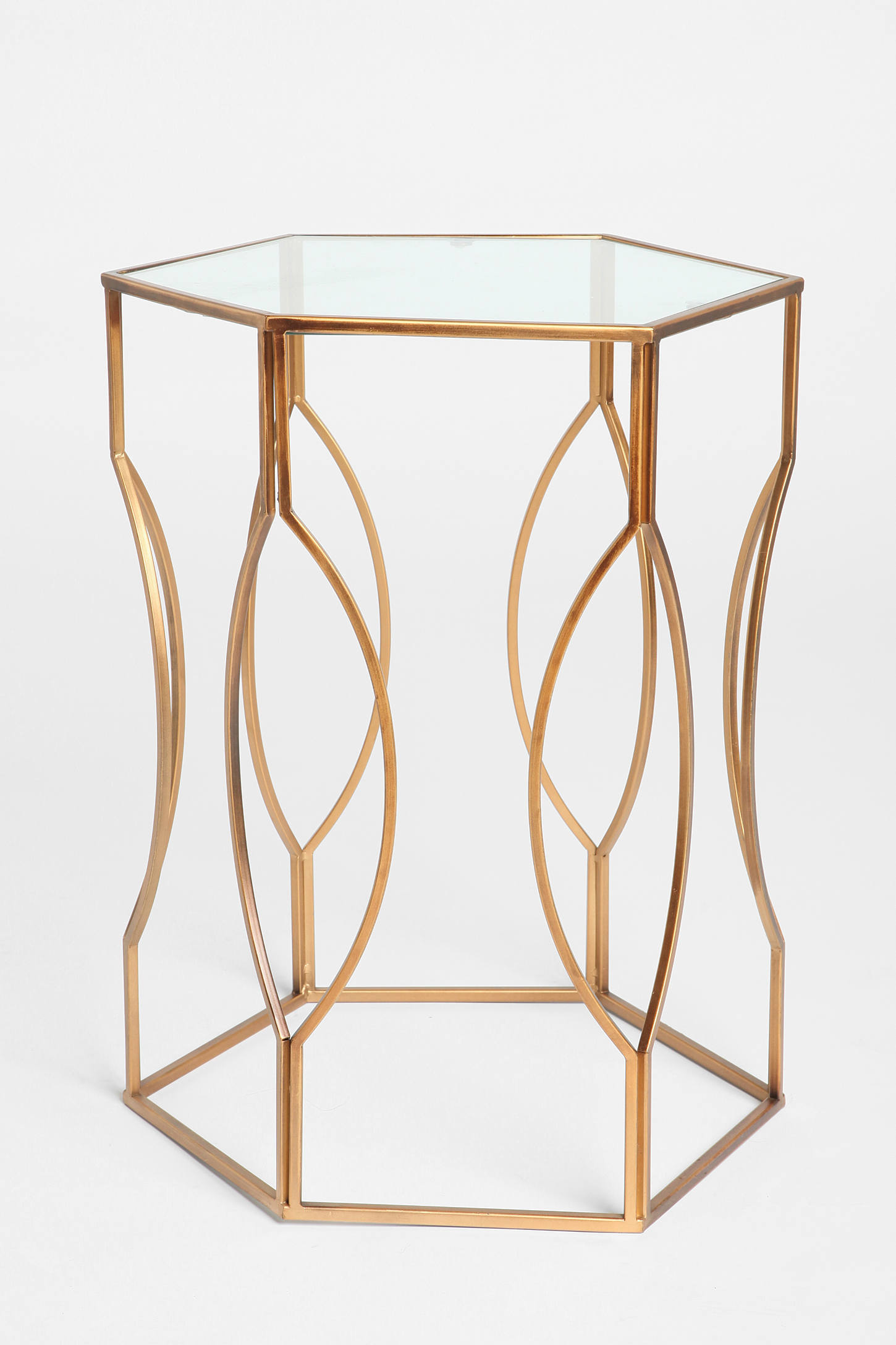 Slide View: 1: Hexagon Side Table - Hexagon Side Table Urban Outfitters