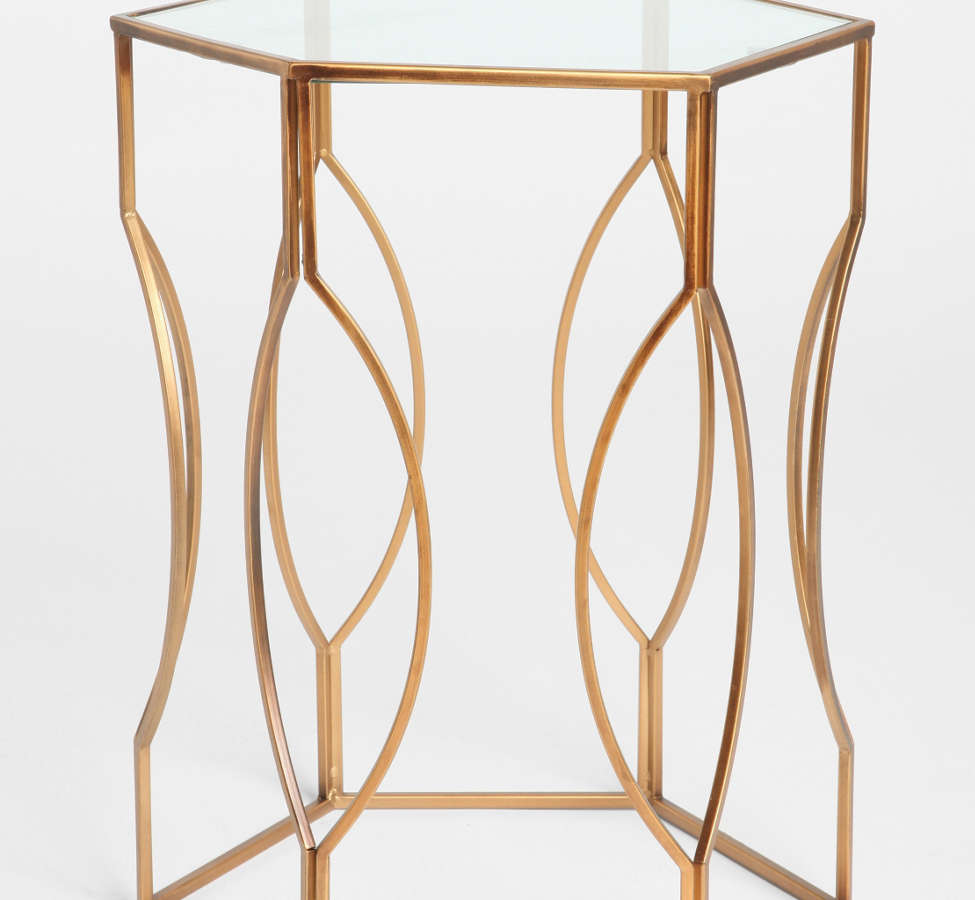 Slide View: 1: Hexagon Side Table