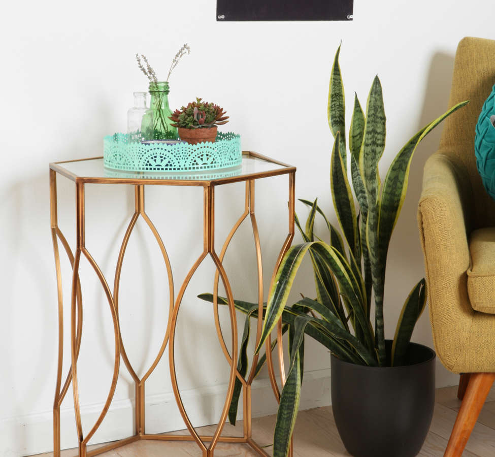 Slide View: 2: Hexagon Side Table