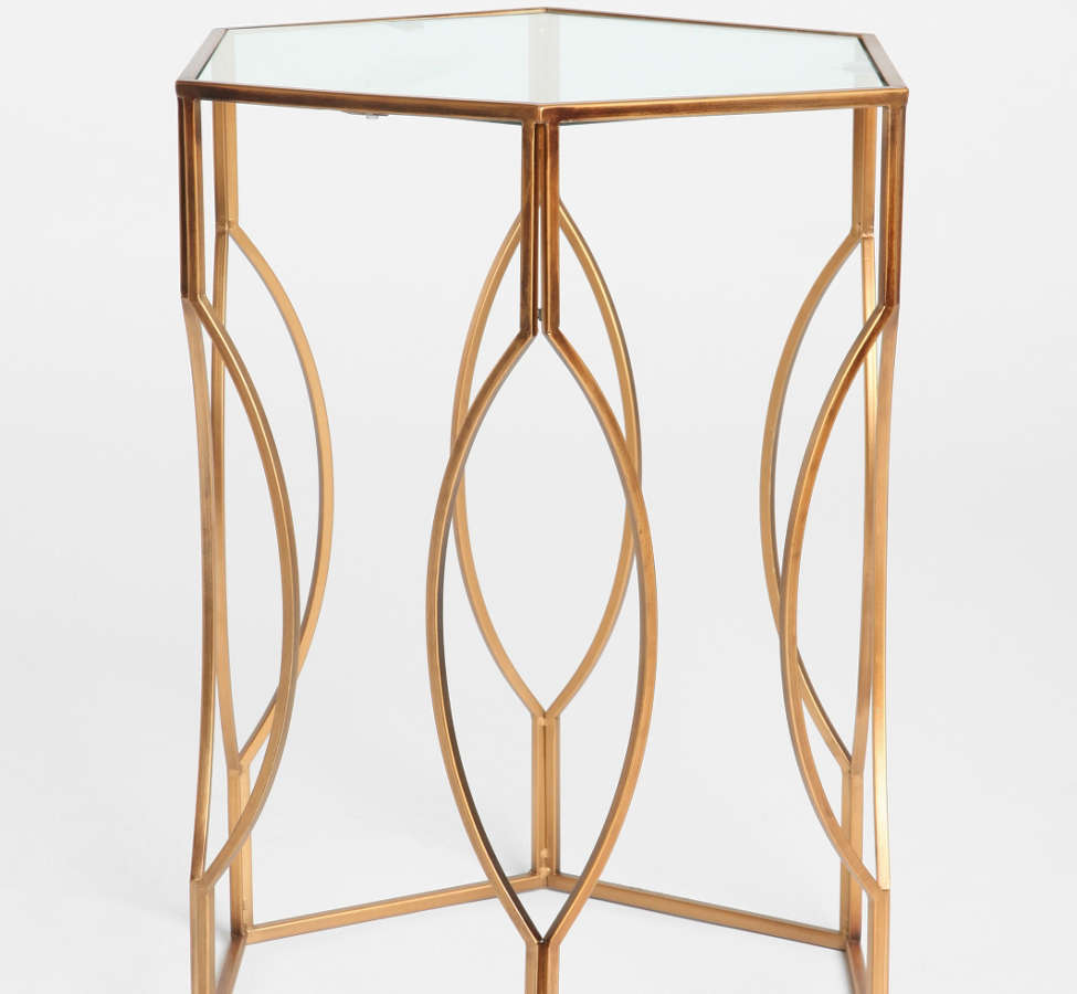 Slide View: 3: Hexagon Side Table