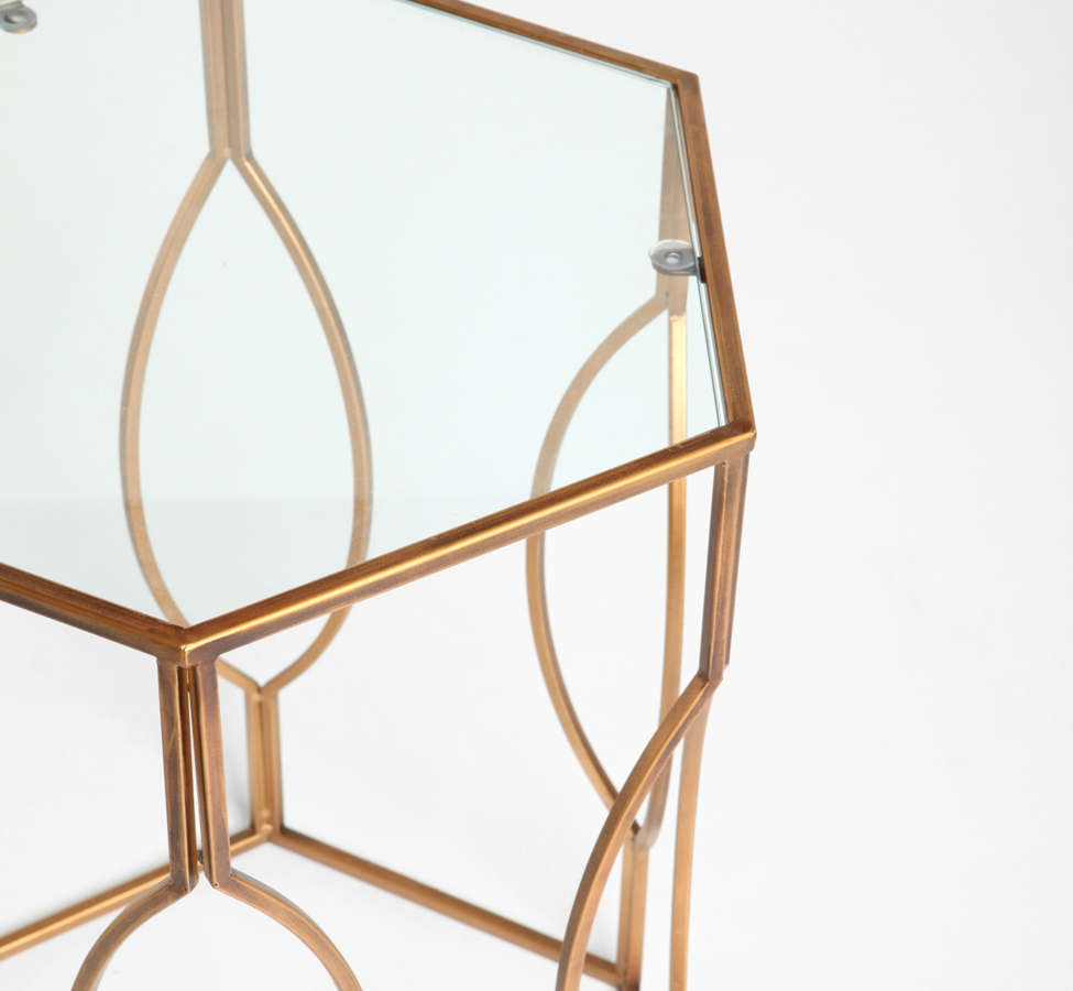 Slide View: 4: Hexagon Side Table