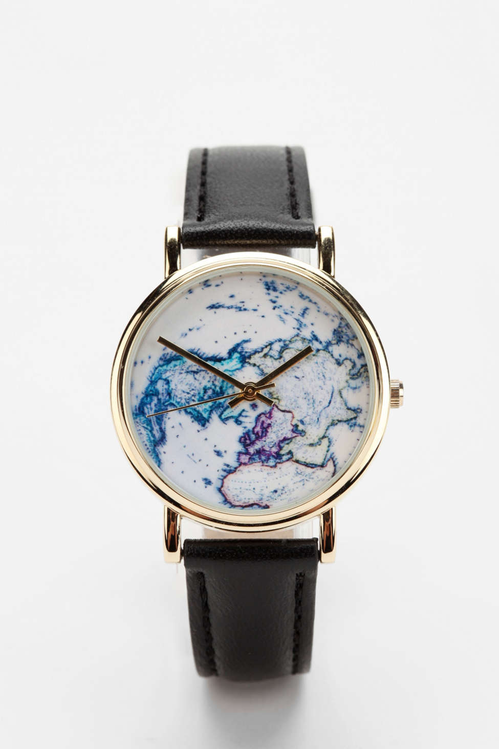 Urban Outfitters World Map Watch.On The Map Leather Watch Urban Outfitters