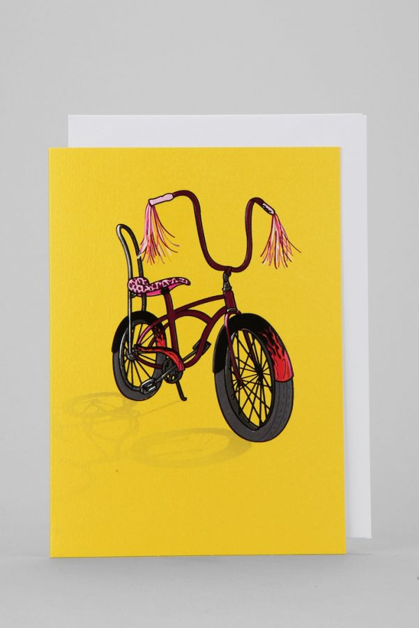 Rad Bike Birthday Card Urban Outfitters