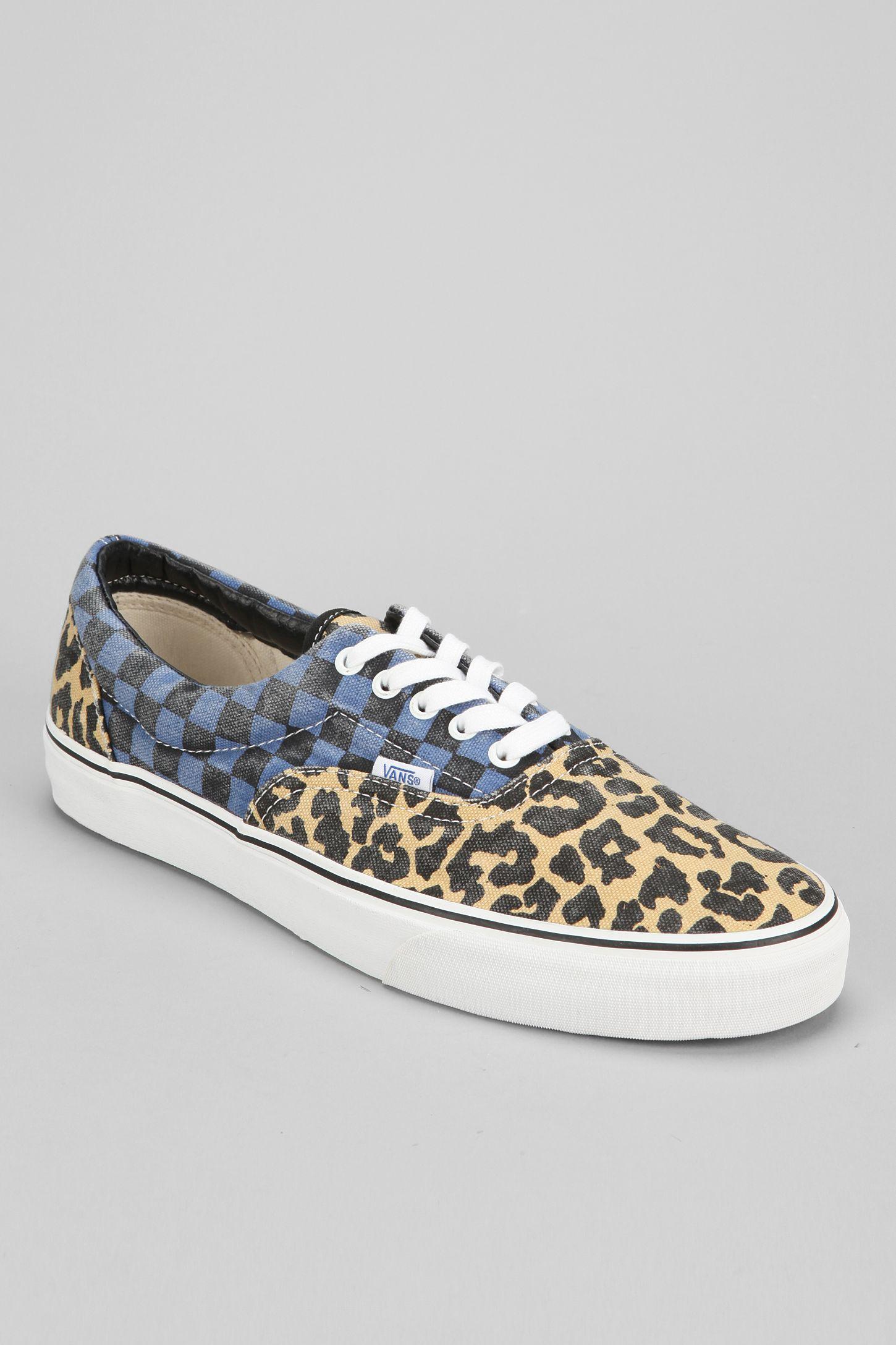 Vans Era Van Doren Leopard Checkerboard Men s Sneaker  b5e424df1fe8