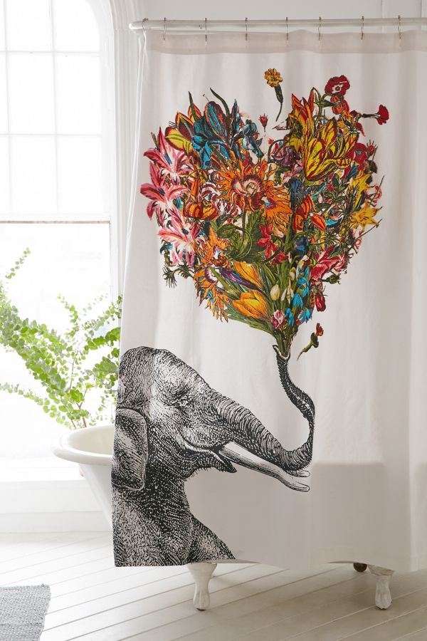 Your Urban Outfitters Gallery RococcoLA Happy Elephant Shower Curtain