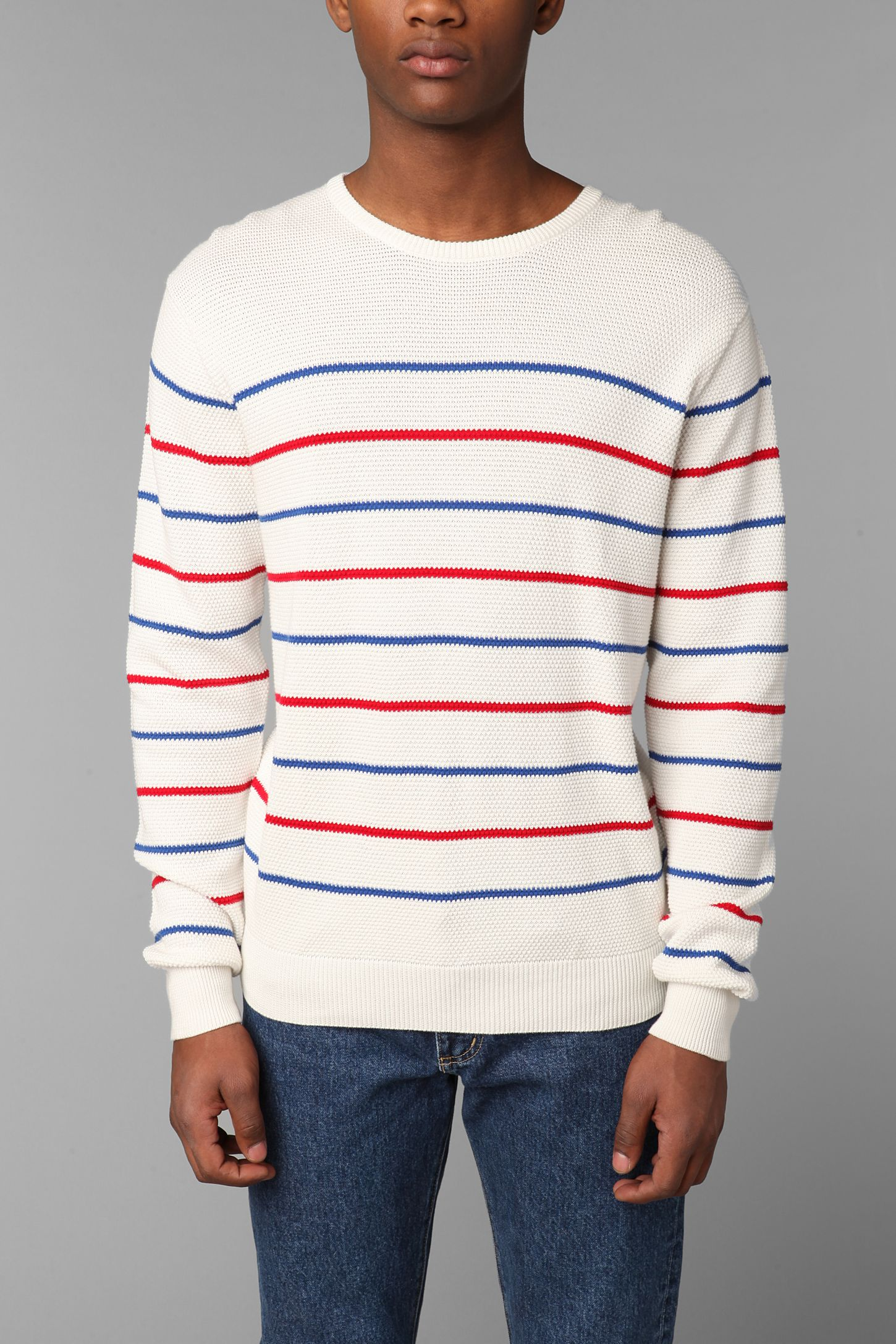 63d529e250ee4 Shades Of Grey By Micah Cohen Sailor Striped Crew-Neck Pullover ...