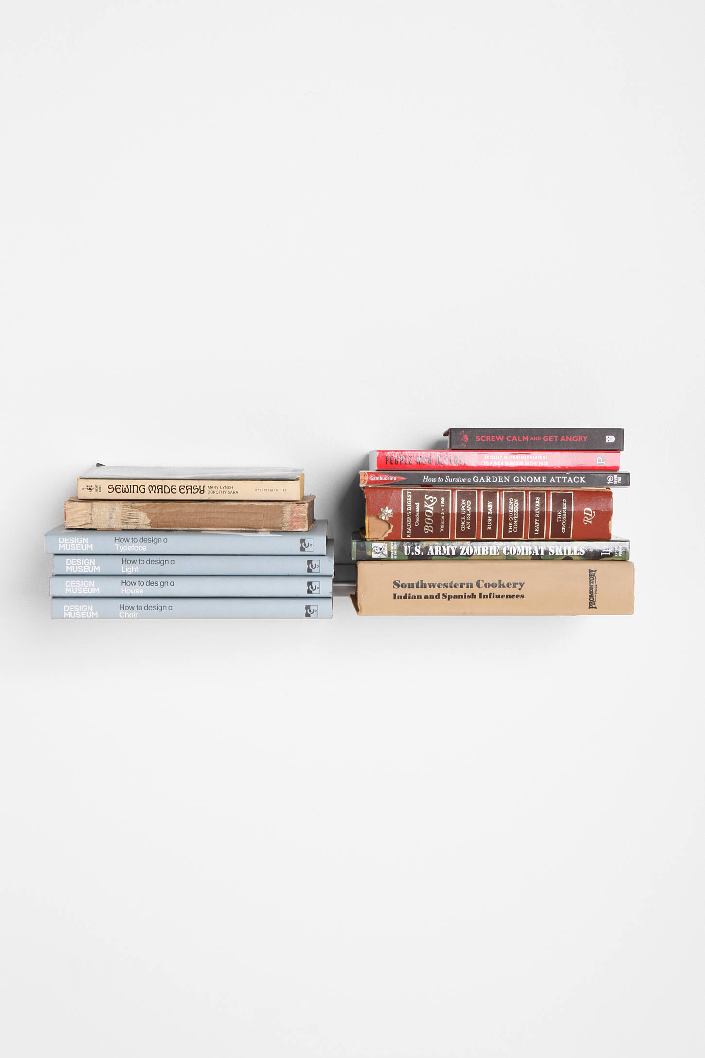 invisible double book shelf urban outfitters