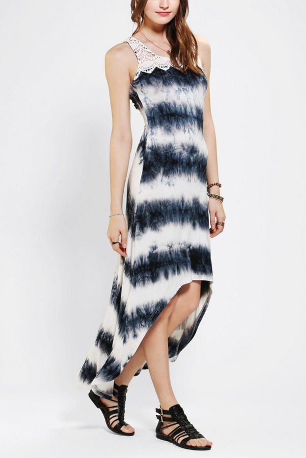 Staring At Stars Crochet Top High Low Maxi Dress Urban Outfitters