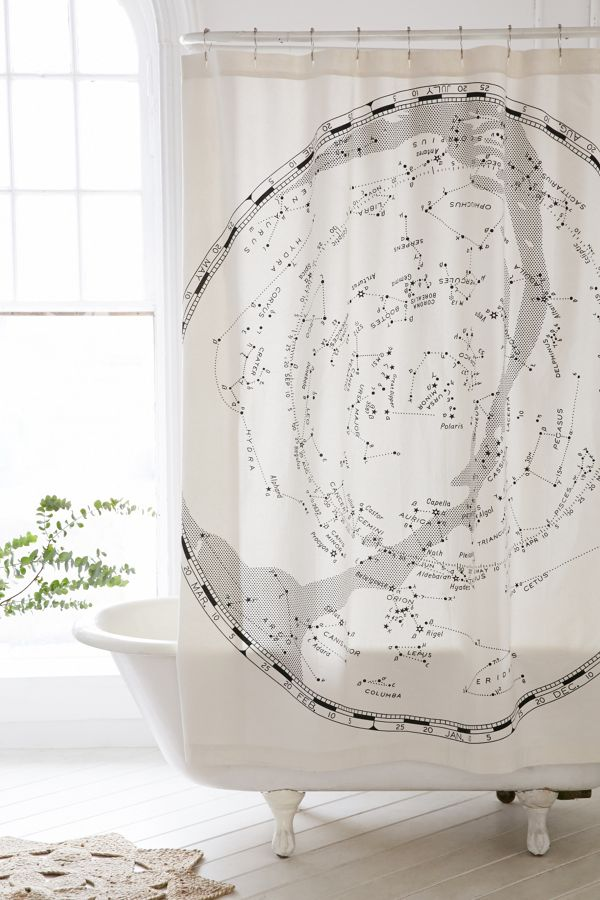 Magical Thinking Constellation Map Shower Curtain Urban Outers