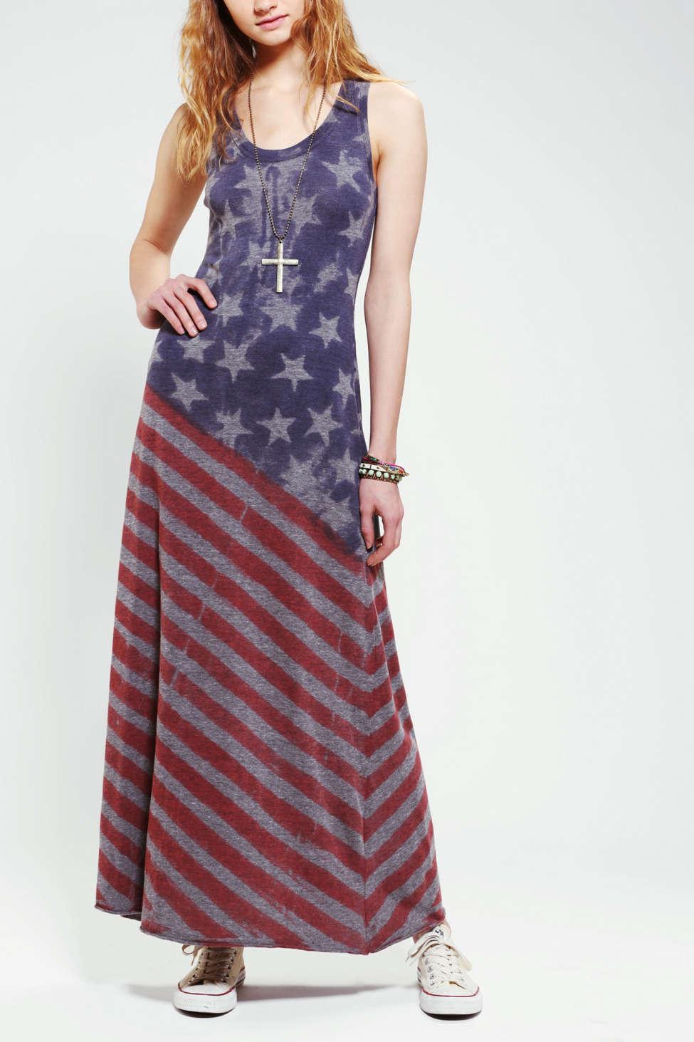 Alternative Flag Racerback Maxi Dress Urban Outfitters