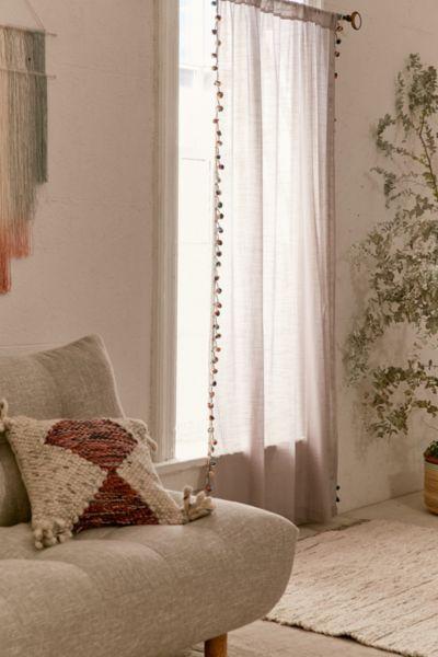 Pompom Curtain - Grey 84