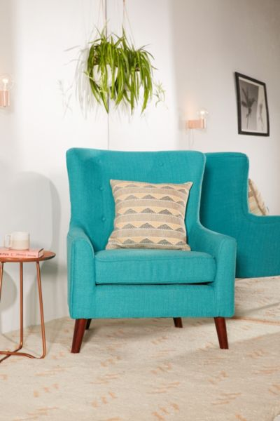 Frankie Arm Chair - Turquoise One Size at Urban Outfitters