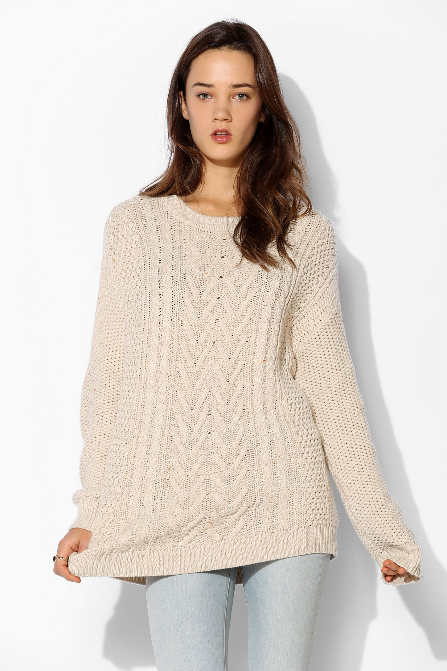 BDG Fall For Cable-Knit Sweater  688b82a19
