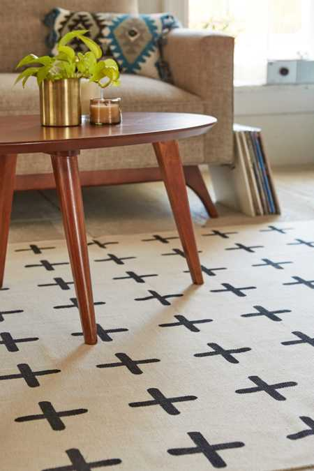 Plus Sign Printed Rug