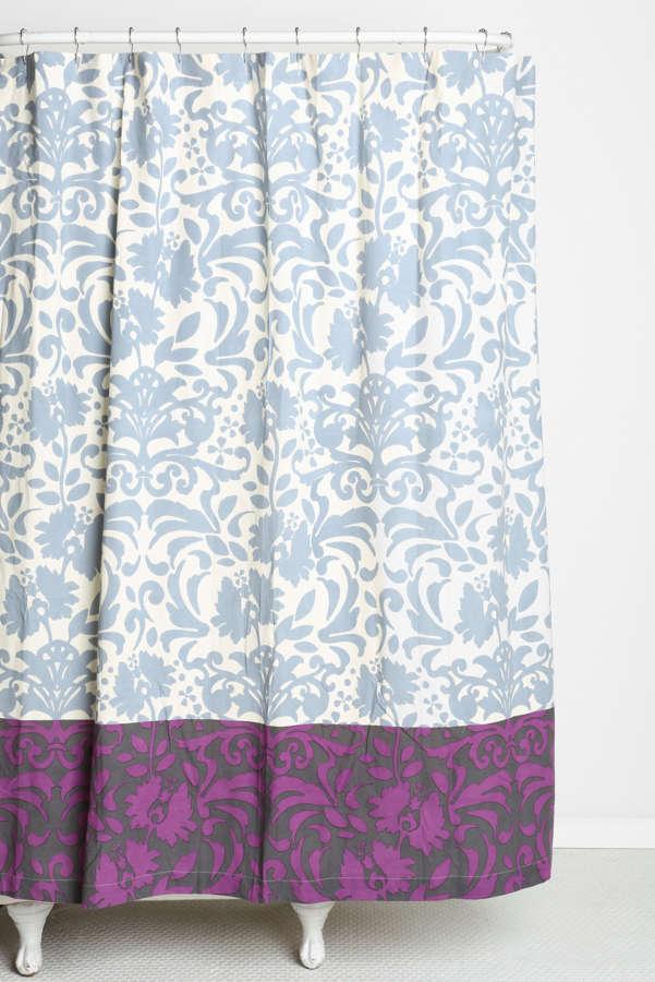 Magical Thinking Damask Ribbon Shower Curtain