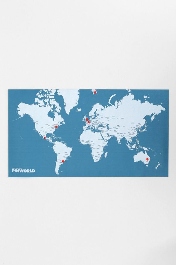 World Map Pin Board Urban Outfitters
