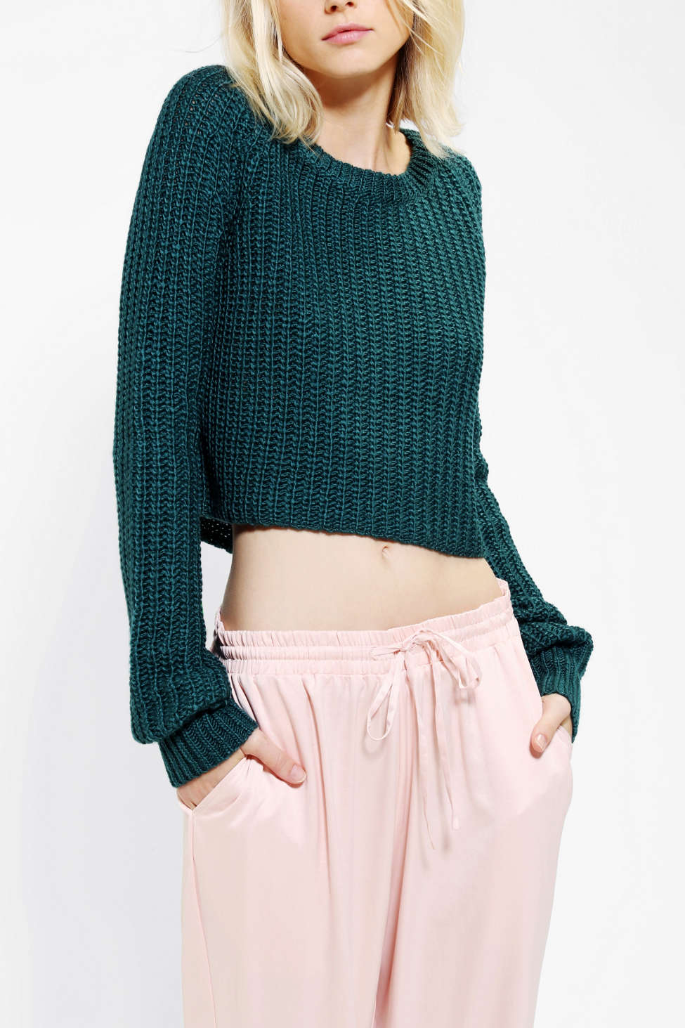 Kimchi Blue Shaker Cropped Sweater Urban Outfitters