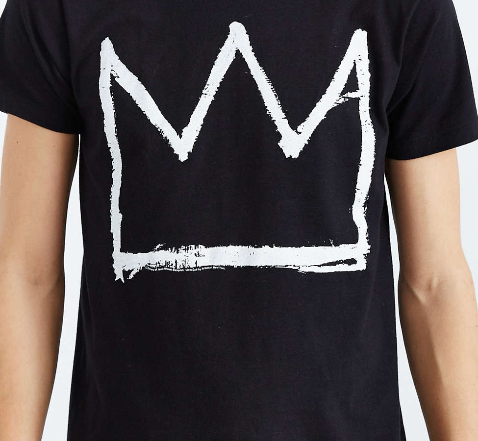 Slide View: 2: Junk Food Basquiat Crown Tee