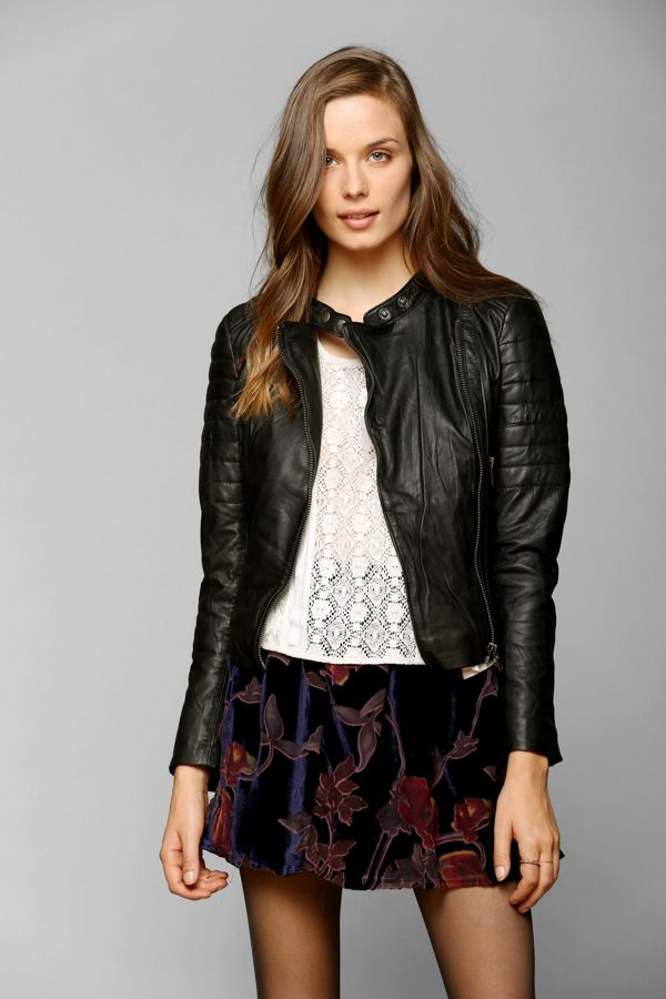 Muubaa Abila Quilted Leather Moto Jacket Urban Outfitters