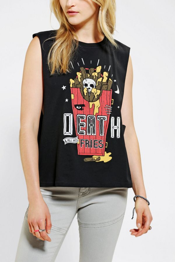 94acd4a0 Pyknic Death By Fries Muscle Tee | Urban Outfitters