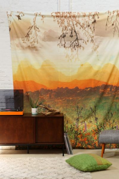 Magical Thinking Mountain Sunshine Tapestry