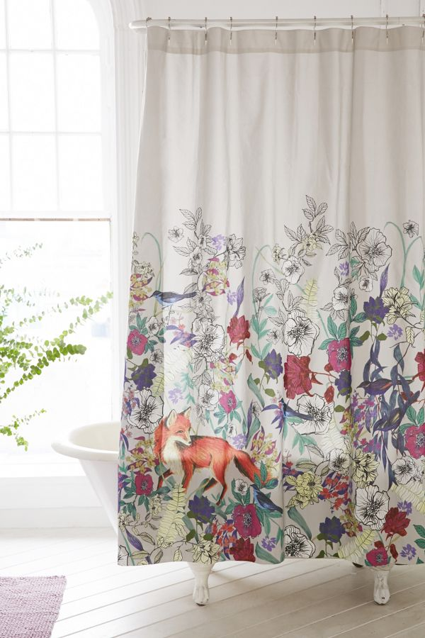 Plum Bow Forest Critters Shower Curtain