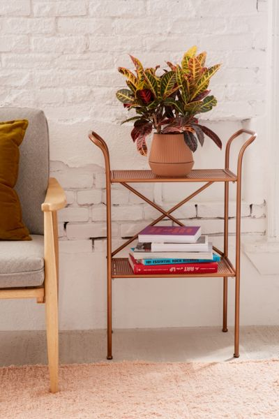 Rustic Metal Side Table Urban Outfitters