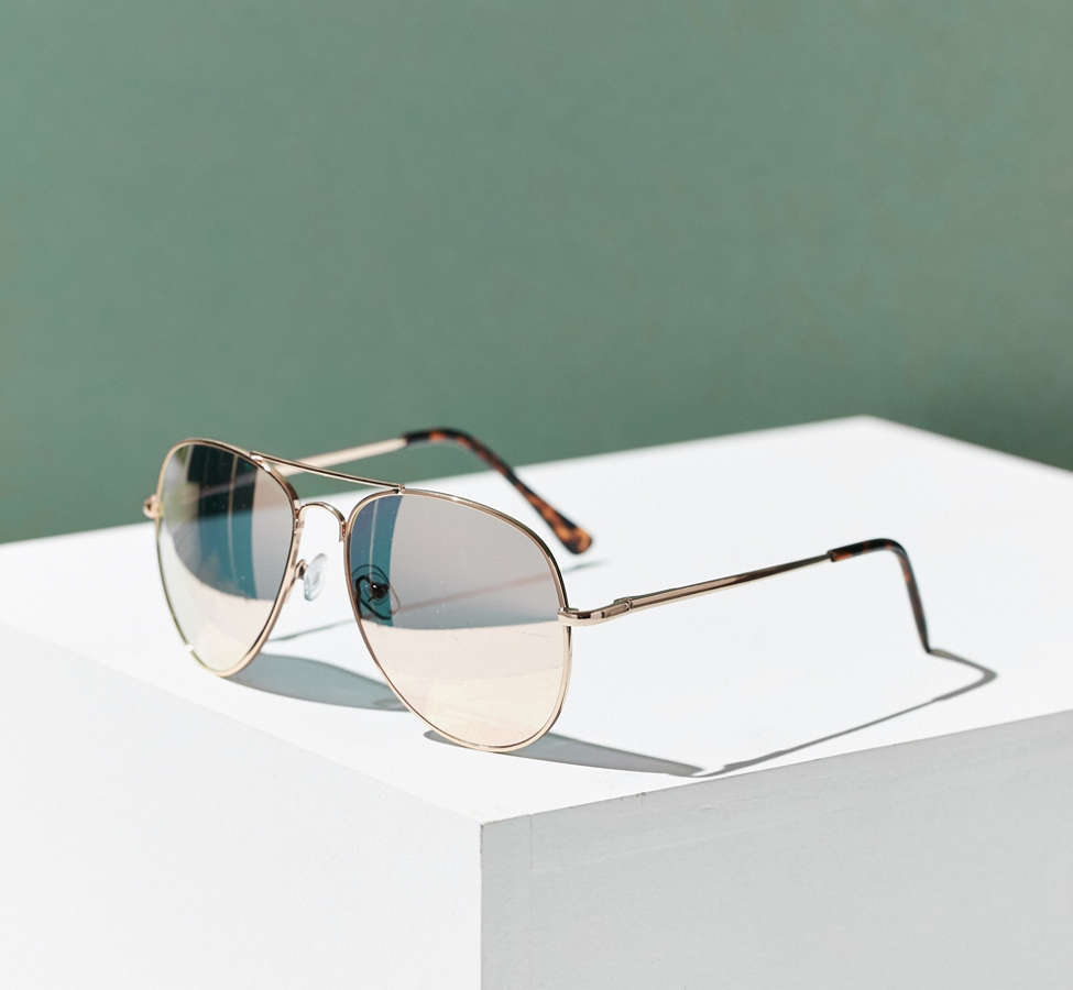 Slide View: 2: Classic Aviator Sunglasses