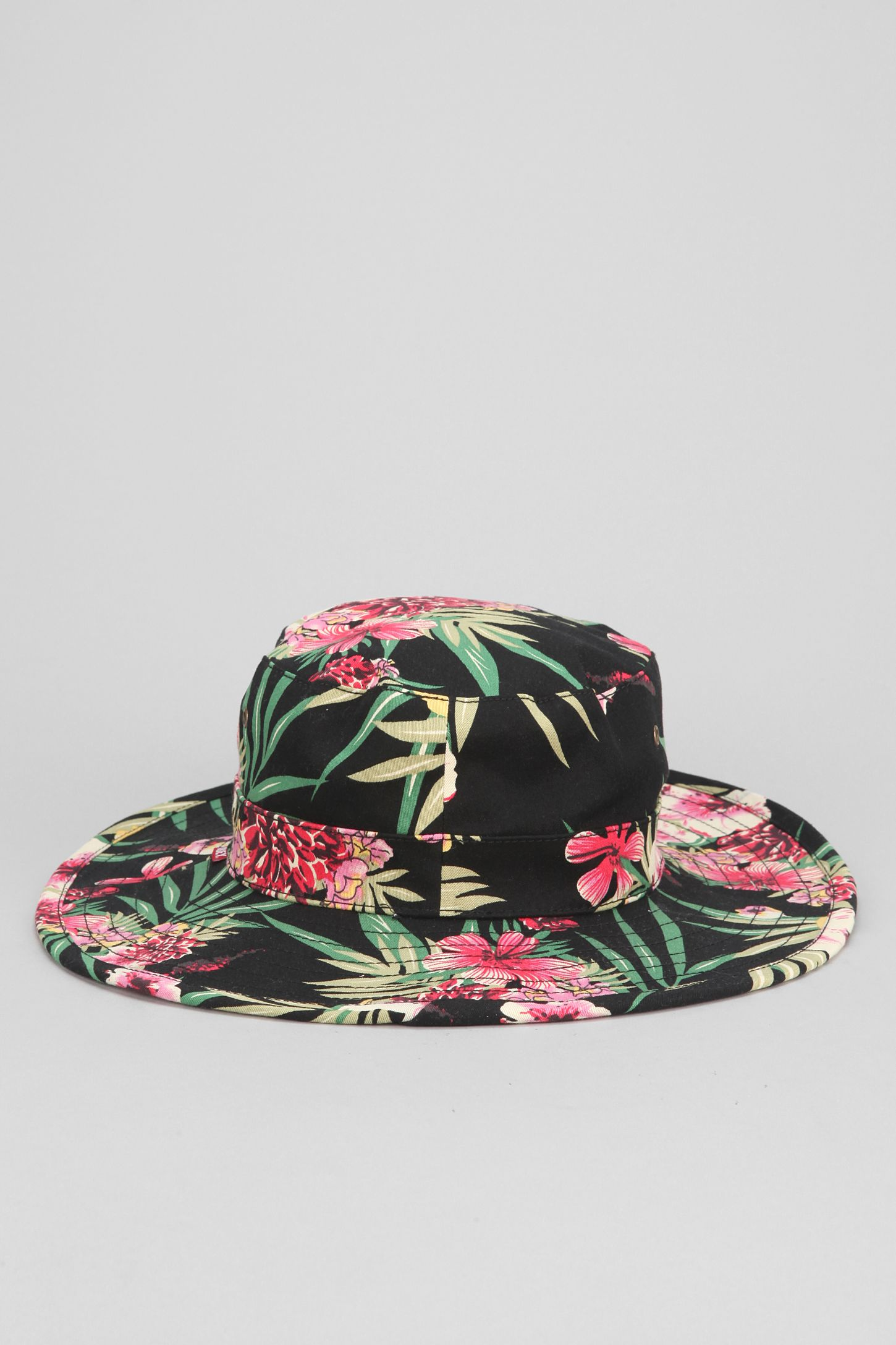 d9e722d2bd3 OBEY Boonts Floral Wide-Brim Bucket Hat