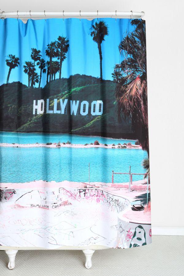 Slide View 1 Wesley Bird For DENY Saltwood Shower Curtain