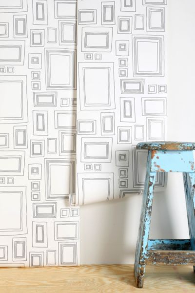Graham & Brown Frame Wallpaper - Black/White One Size at Urban Outfitters