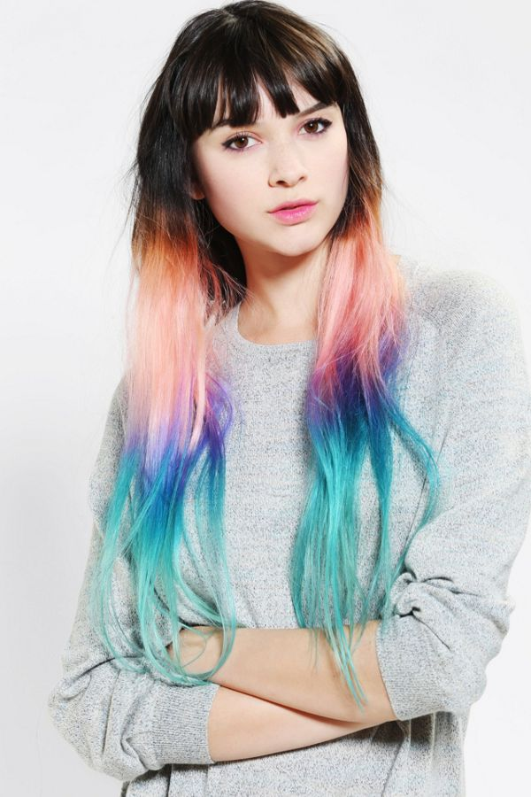 Cloud9jewels Cotton Candy Ombre Clip In Hair Extension Urban