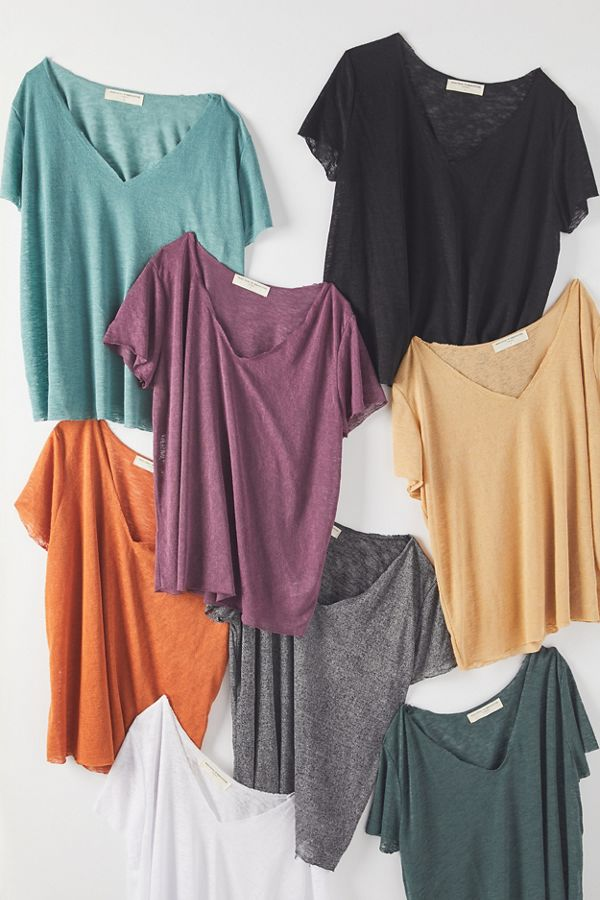 Slide View: 1: Project Social T Textured-Knit V-Neck Tee