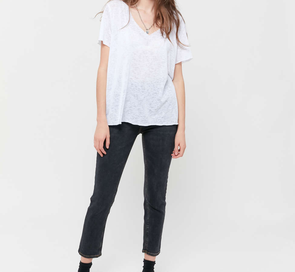 Slide View: 2: Project Social T Textured-Knit V-Neck Tee