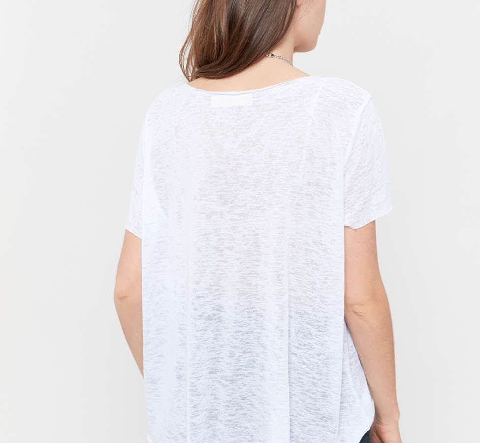 Slide View: 3: Project Social T Textured-Knit V-Neck Tee