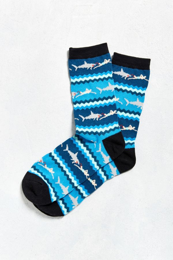 Shark Chase Stripe Sock Urban Outfitters
