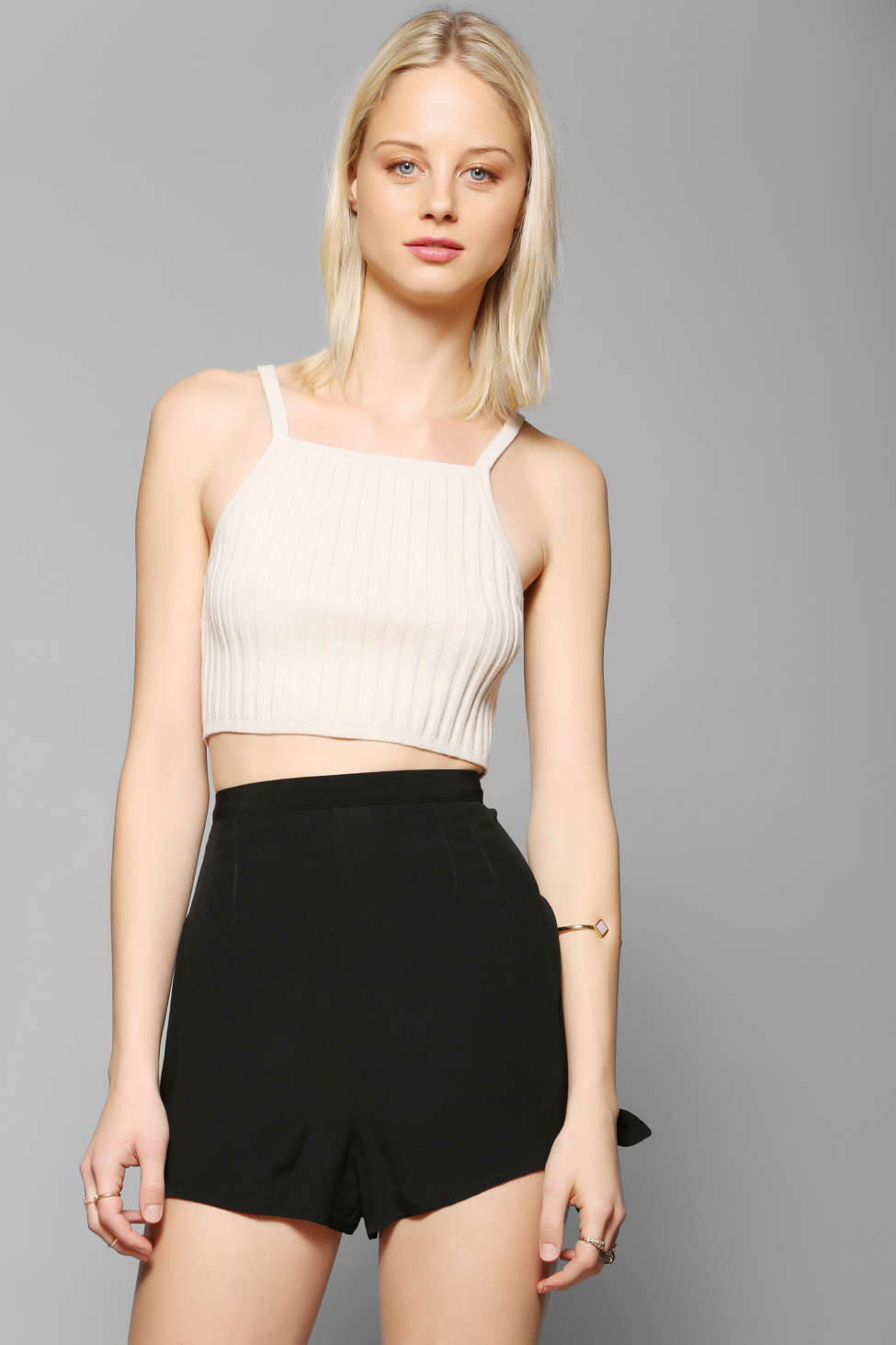 Bdg Rib Knit Sweater Cropped Tank Top Urban Outfitters