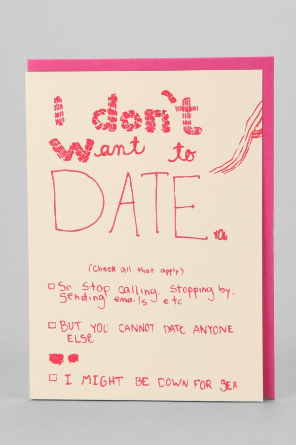i don t want to date
