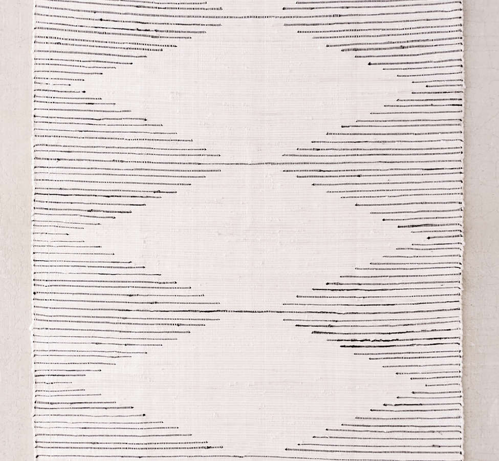 Slide View: 1: Connected Stripe Rag Rug