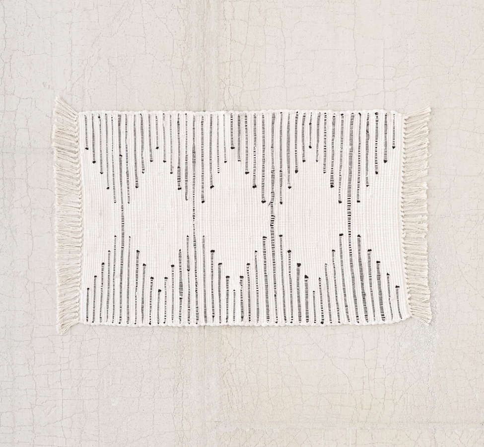 Slide View: 4: Connected Stripe Rag Rug