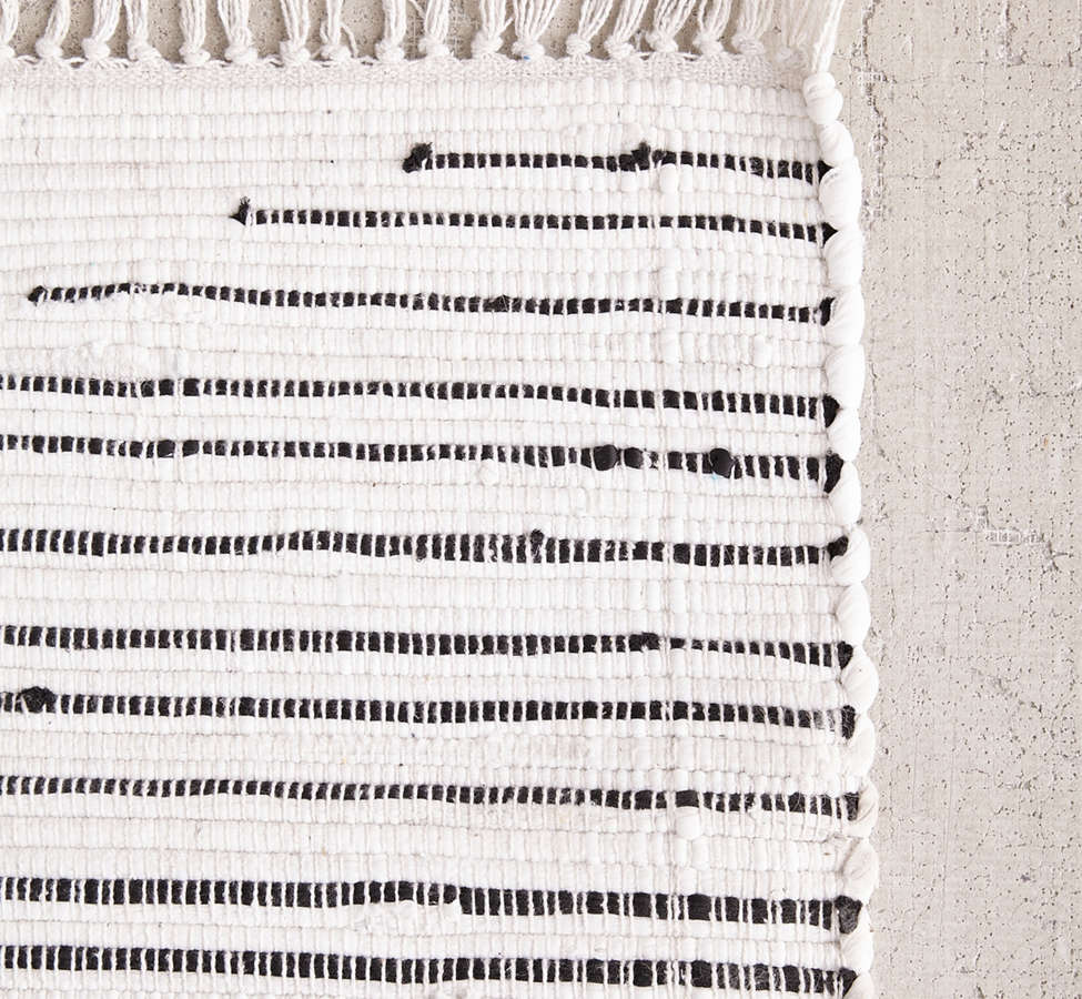 Slide View: 5: Connected Stripe Rag Rug