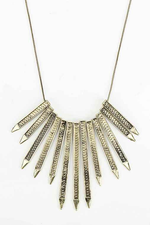 Rising Sun Spikes Necklace - Urban Outfitters