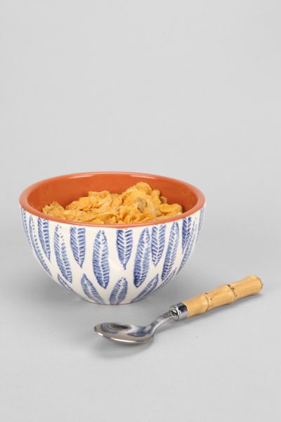 Hand-Stamped Terracotta Bowl