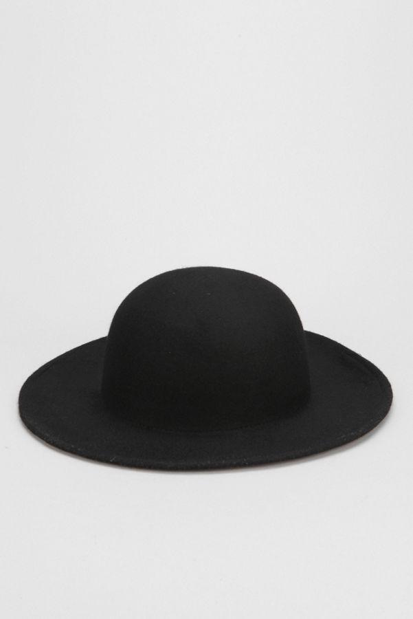 Felt Wide-Brim Bowler Hat  f4aa756f5f9