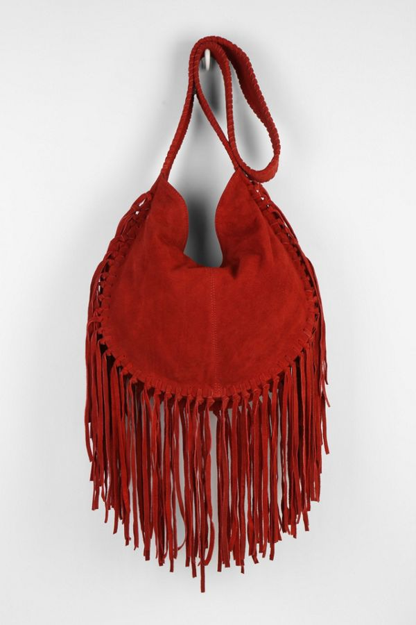 Brand-new Ecote Bettina Suede Fringe Hobo Bag | Urban Outfitters KF57
